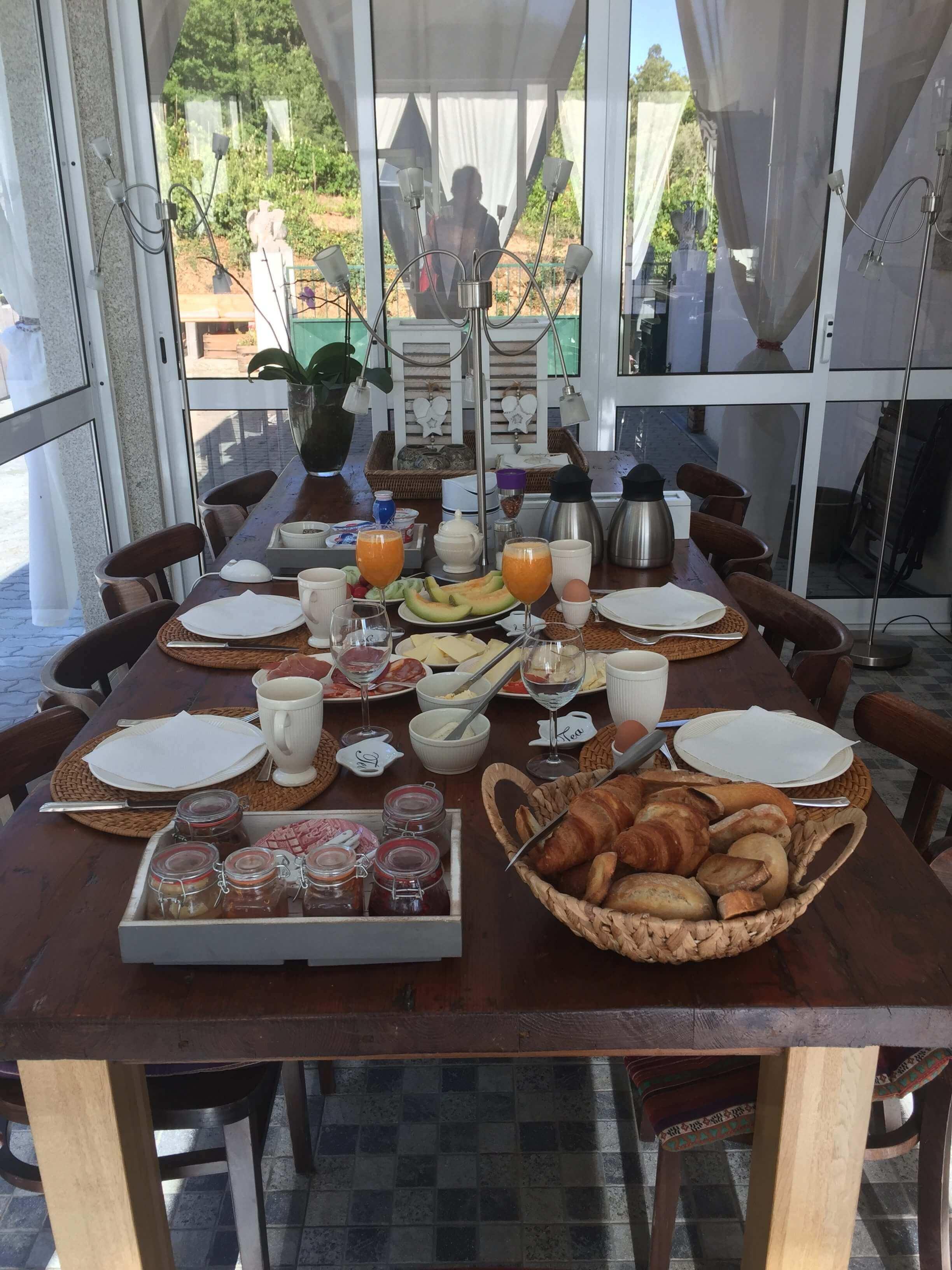 Casa Traca ontbijt
