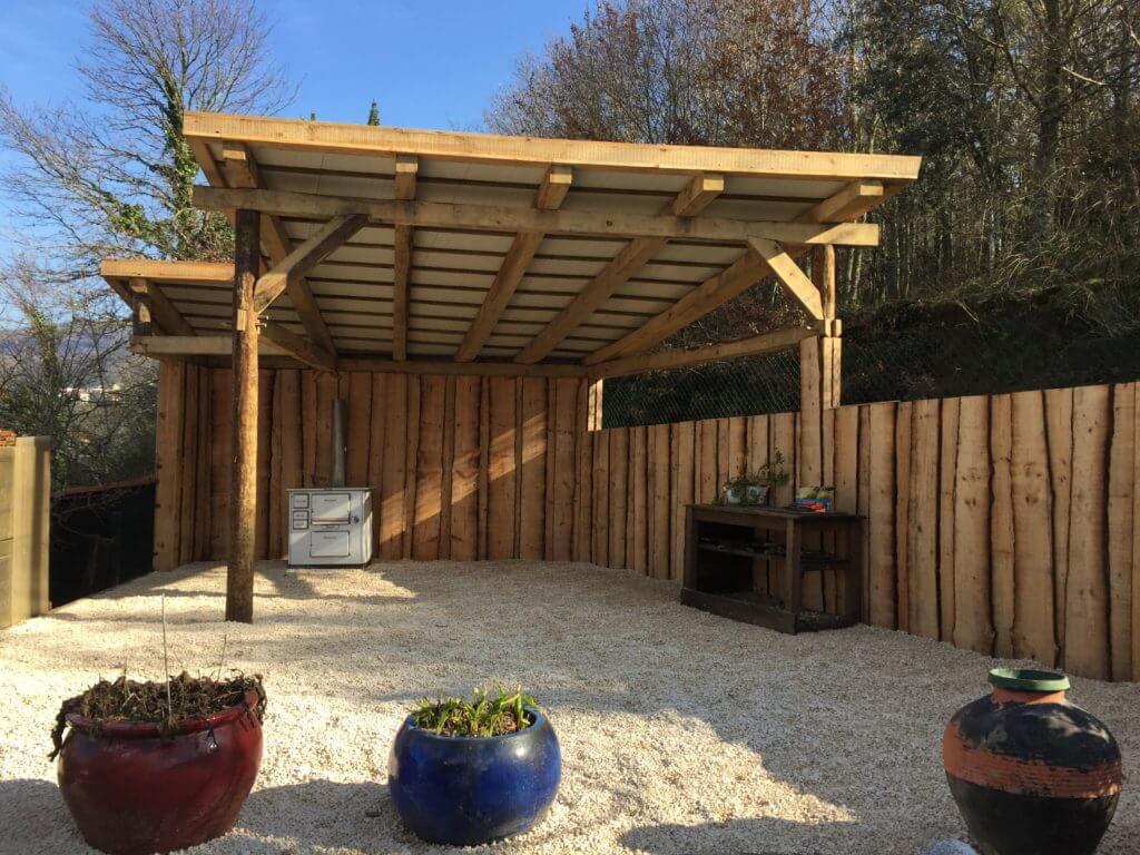 Casa Traca nieuw overdekt terras 2018