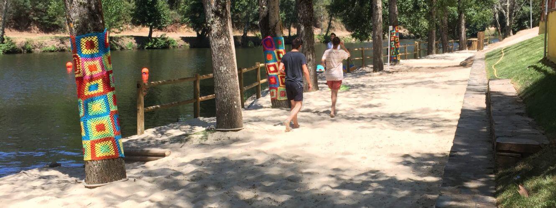 Praia fluvial secarias