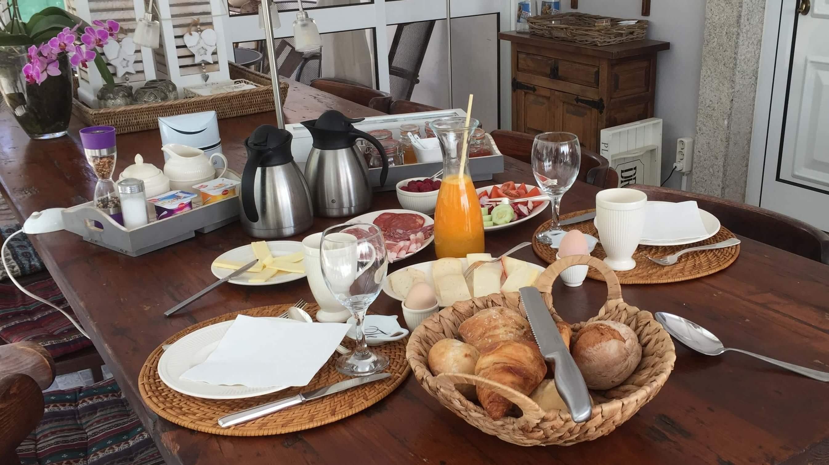 Ontbijt - breakfast Casa Traca