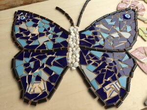 mosaics at Casa Traca project