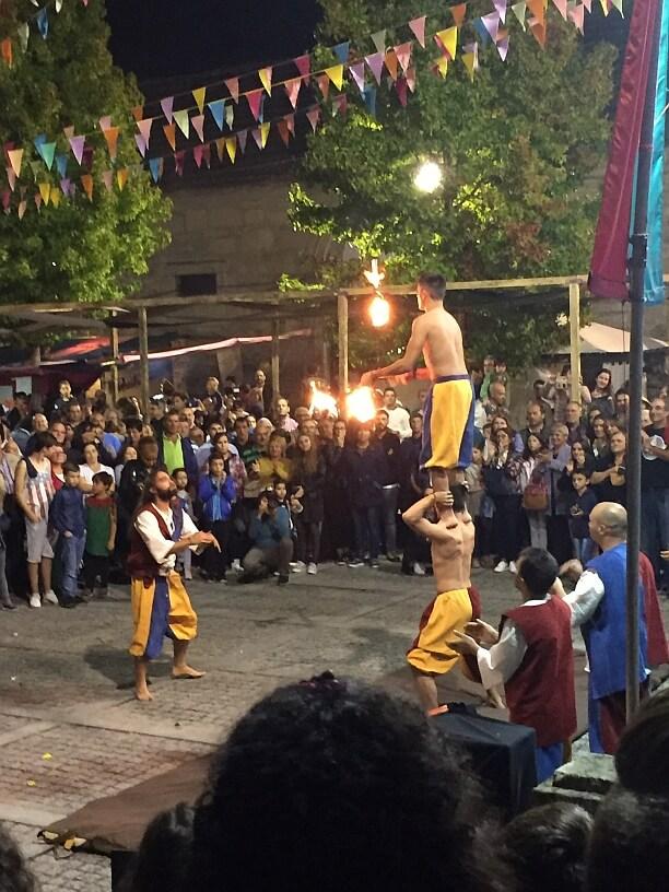 acrobatiek met vuur