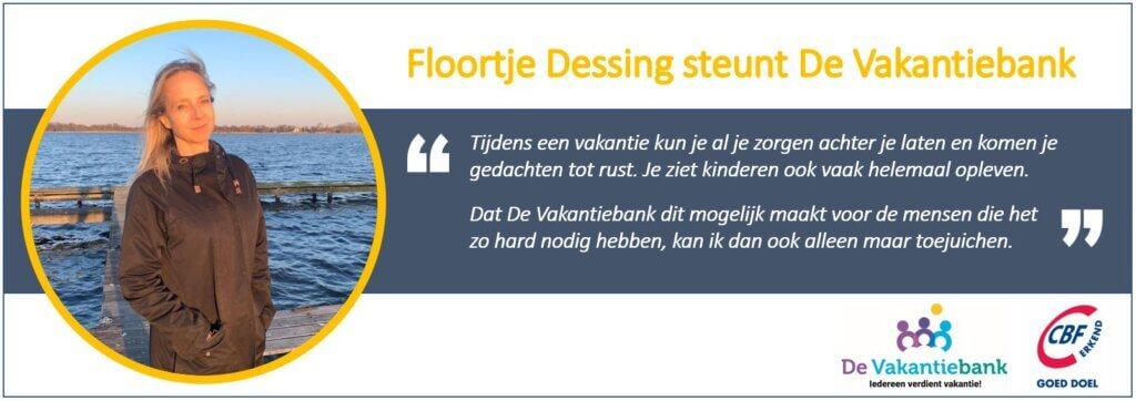 Floortje Dessing steunt de vakantiebank