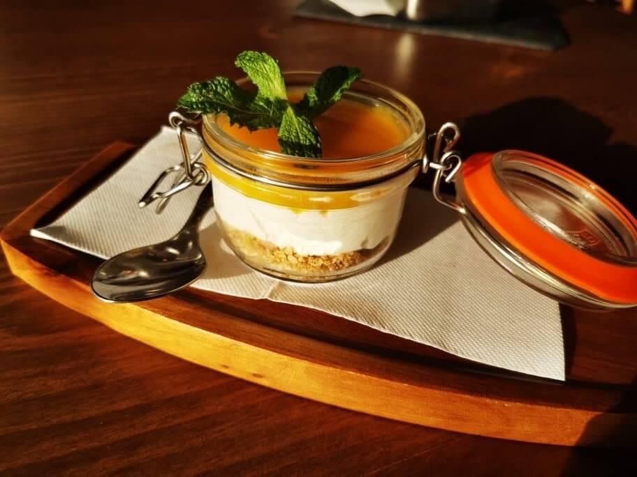 cheesecake bij principe do alva restaurants