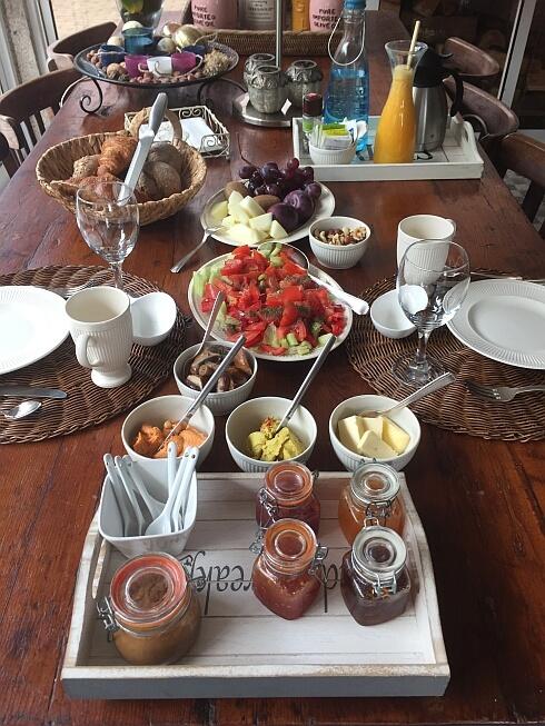 Vegan ontbijt bij Casa Traca B&B Arganil