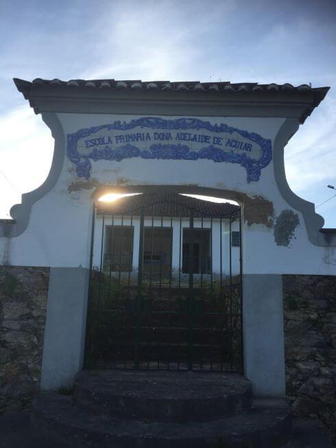 Aan de N17 in Sobreira